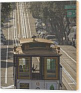 Cable Car Number 6 Wood Print
