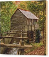 Cable Mill Cades Cove Smoky Mountains Tennessee In Autumn Wood Print
