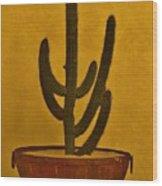 Cabo Cactus Wood Print
