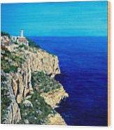 Cabo La Nao Lighthouse Javea Spain Wood Print