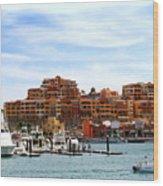 Cabo San Lucas Marina Wood Print