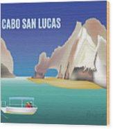 Cabo San Lucas Mexico Horizontal Scene Wood Print