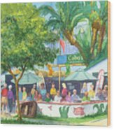 Cabos Bar And Grill Wood Print
