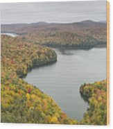Cabot Vermont Nichols Pond Autumn Wood Print