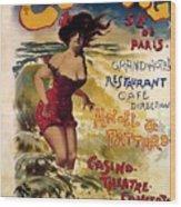 Cabourg - Paris - Grand Hotel - Vintage Restaurant Advertising Poster Wood Print