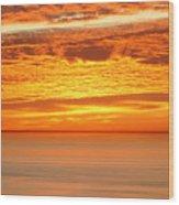 Cabrillo Sunset Wood Print
