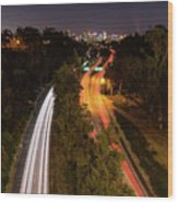 Cabrillo To Downtown Wood Print