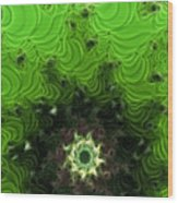 Cactus Abstract Wood Print