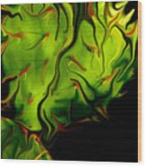 Cactus Fire Wood Print