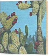 Cactus On Vicky Wood Print