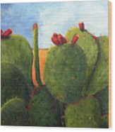 Cactus Pears Wood Print