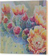 Cactus Flowers Wood Print