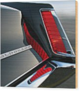 Caddy Taillight Wood Print