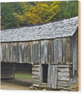 Cades Cove Barn Wood Print