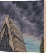 Cadet Chapel At The United States Air Force Academy Wood Print