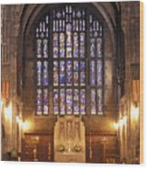 Cadet Chapel With Stained Glass Windows Wood Print