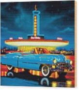 Cadillac Diner Wood Print