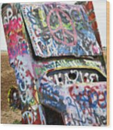 Cadillac Ranch Wood Print