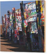 Cadillac Ranch Route 66 Wood Print