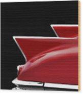 Cadillac Sharp Edged Fins Wood Print