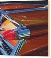 Cadillac Tail Fin View Wood Print