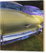 Cadillacs All In A Row Wood Print