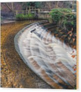 Caeau Weir Wood Print