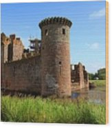 Caerlaverock Castle, Scotland Wood Print