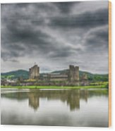 Caerphilly Castle North View 1 Wood Print