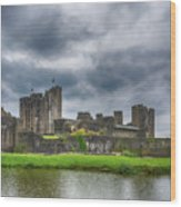 Caerphilly Castle North View 3 Wood Print