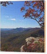 Caesars Head State Park In Upstate South Carolina Wood Print
