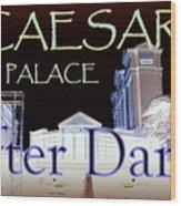Caesars Palace After Dark Wood Print