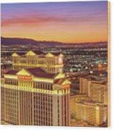 Caesars Palace After Sunset 6 To 3.5 Aspect Ratio Wood Print