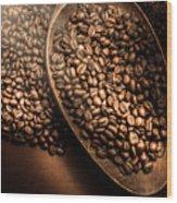 Cafe Aroma Art Wood Print