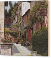 Cafe Bifo Wood Print by Guido Borelli