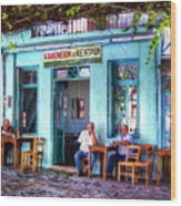 Cafe Central Wood Print