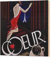 Cafe Coeur 1 Wood Print