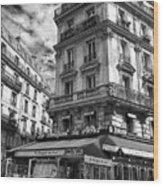 Cafe Corner - Le Bouquet Du Nord Wood Print