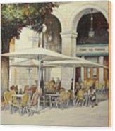 Cafe de Pombo-Santander Wood Print