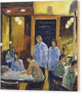 Cafe Des Artistes Wood Print