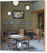 Cafe E Interior Wood Print