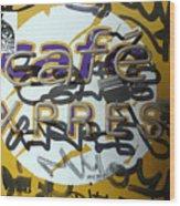 Cafe Express Wood Print