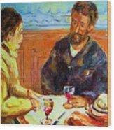 Cafe  Homage  De Pierre Auguste Wood Print