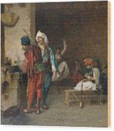 Cafe House, Cairo  Wood Print