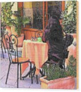 Cafe In Montepulciano Tuscany Wood Print