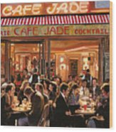Cafe Jade Wood Print