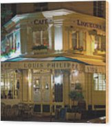 Cafe Louis Philippe Wood Print