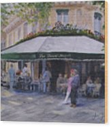 Cafe Magots Wood Print