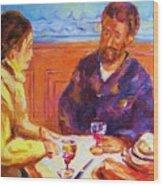 Cafe Renoir Wood Print