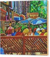 Cafe Second Cup Wood Print